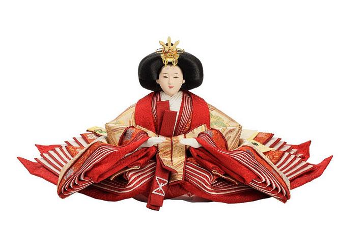 優香作「親王飾り」桐鳳襷紋 女雛(京十一)