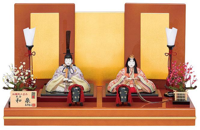 真多呂人形 親王飾り「本金 和泉雛セット」品番:1883