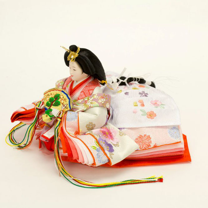 ひな人形 親王収納箱飾り 4H12-GP-073 女雛(横)