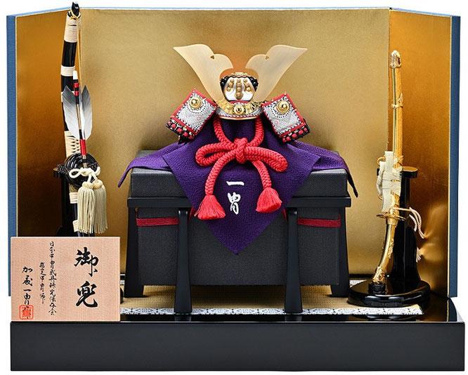 一冑作「四分の一 小桜革兜飾りセット」 品番:3125