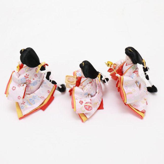ひな人形 五人収納箱飾り 4H16-GP-019 三人官女(横)