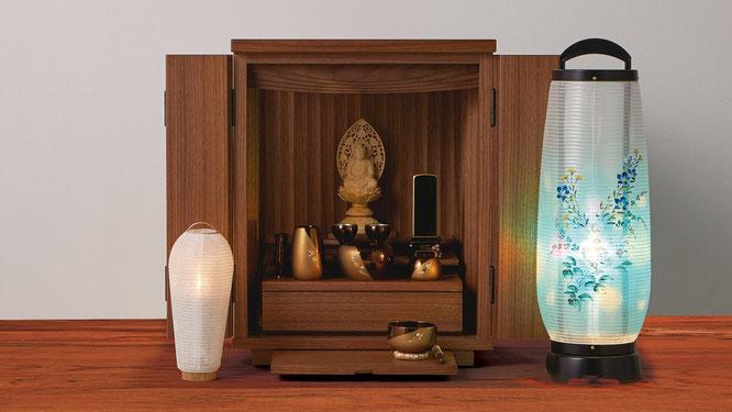 霊前灯とモダン仏壇