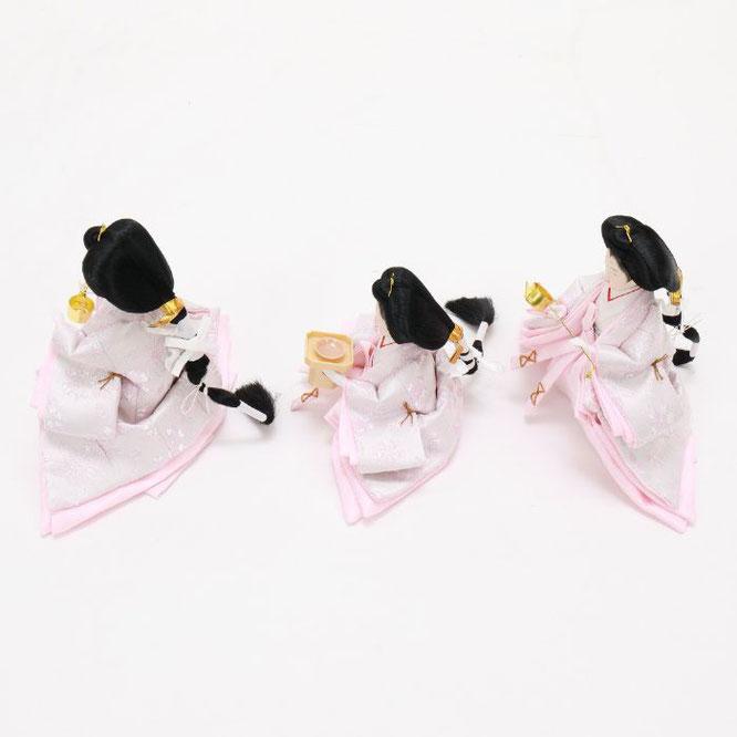 ひな人形 五人収納箱飾り 4H16-GP-022 三人官女(横)