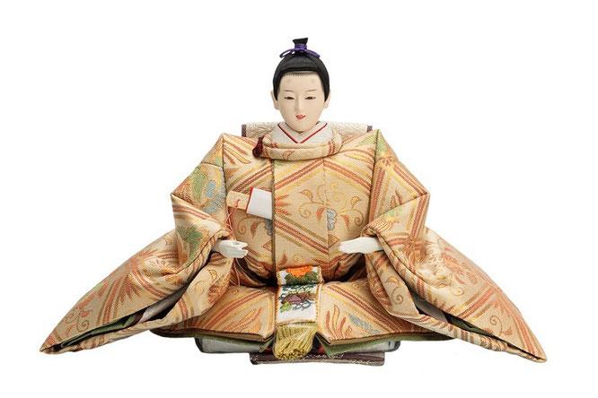優香作「親王飾り」桐鳳襷紋 男雛(京十一)