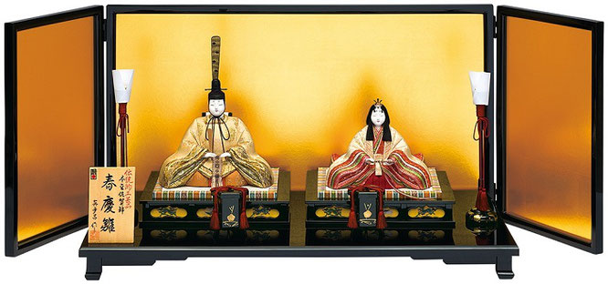 真多呂人形 親王飾り「本金 春慶雛セット」 品番:1808