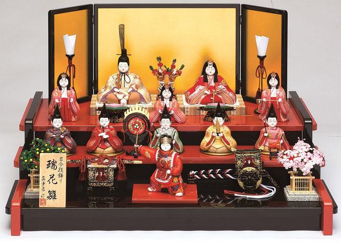 真多呂人形「瑞花雛11人飾り」品番:1354