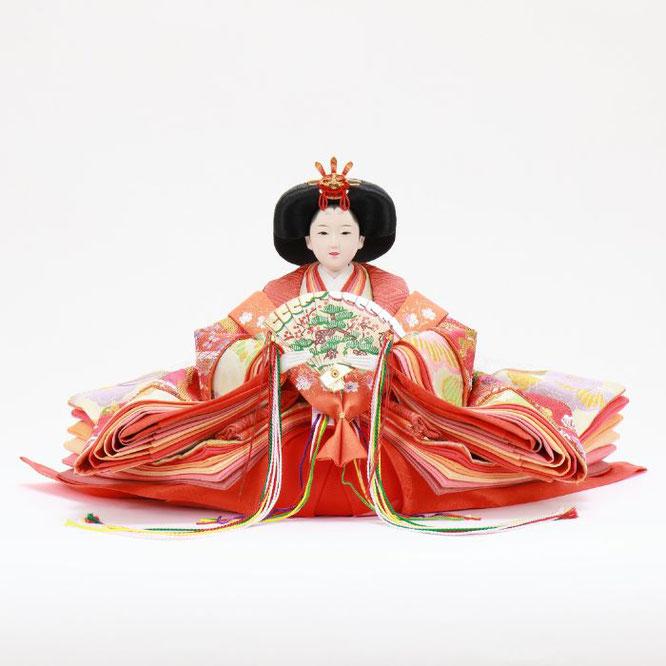 ひな人形 五人飾り 4H15-GP-007 女雛(正面)
