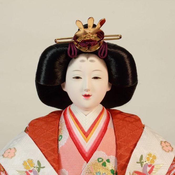 ひな人形 五人飾り 4H15-GP-003A 女雛(正面)