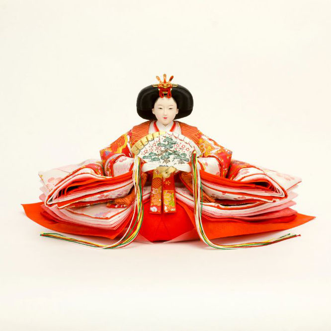 ひな人形 五人飾り 4H15-GP-004 女雛(正面)