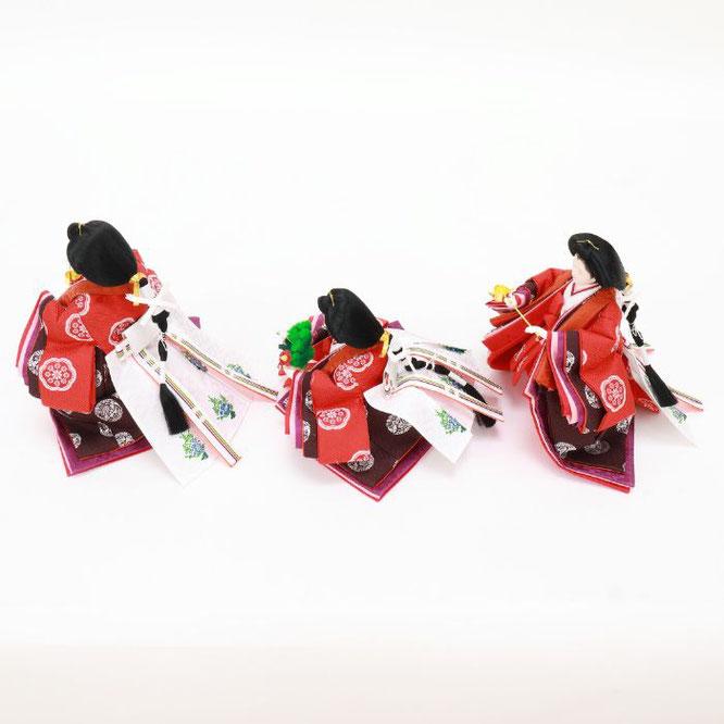 ひな人形 五人飾り 4H15-GP-005 三人官女(横)