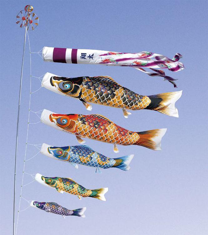 大型鯉のぼり「ちりめん京錦」について