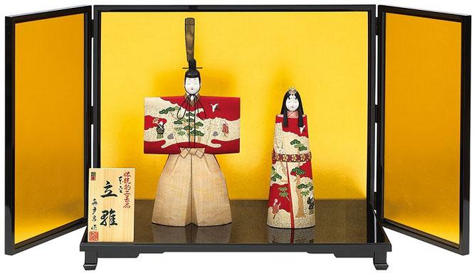真多呂人形「本金 古代立雛セット」品番:1901
