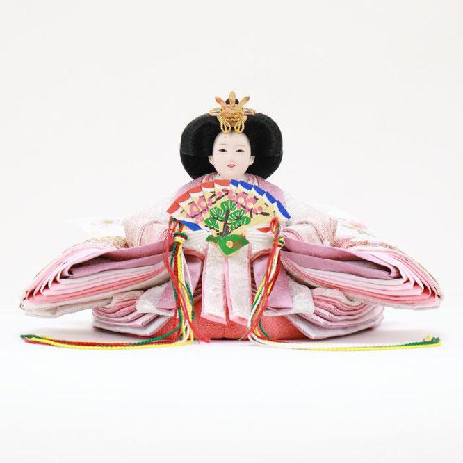 ひな人形 五人収納箱飾り 4H16-GP-025 女雛(正面)