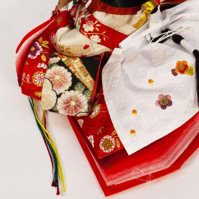 ひな人形 親王収納箱飾り 4H12-GP-071A 女雛(横)
