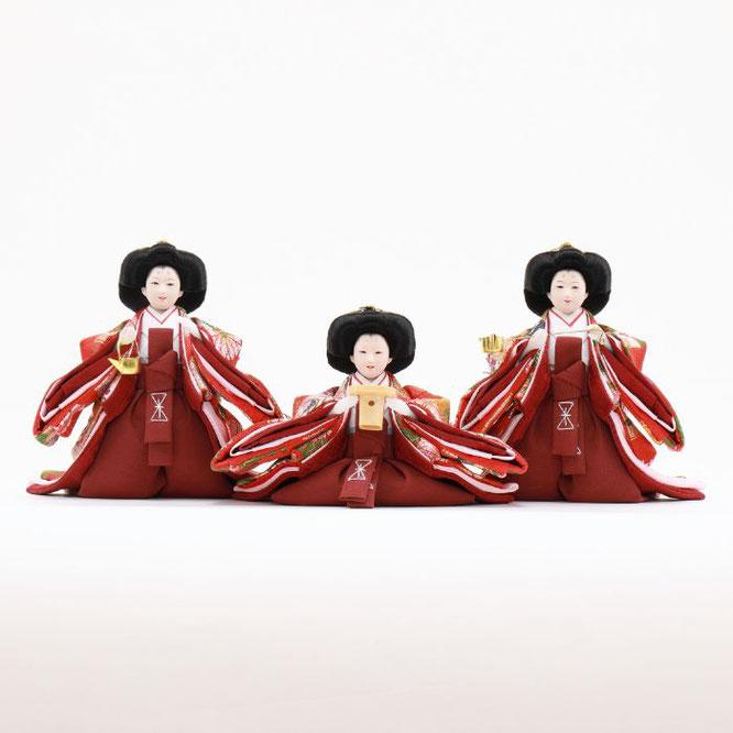 ひな人形 五人飾り 4H15-GP-032 三人官女(正面)
