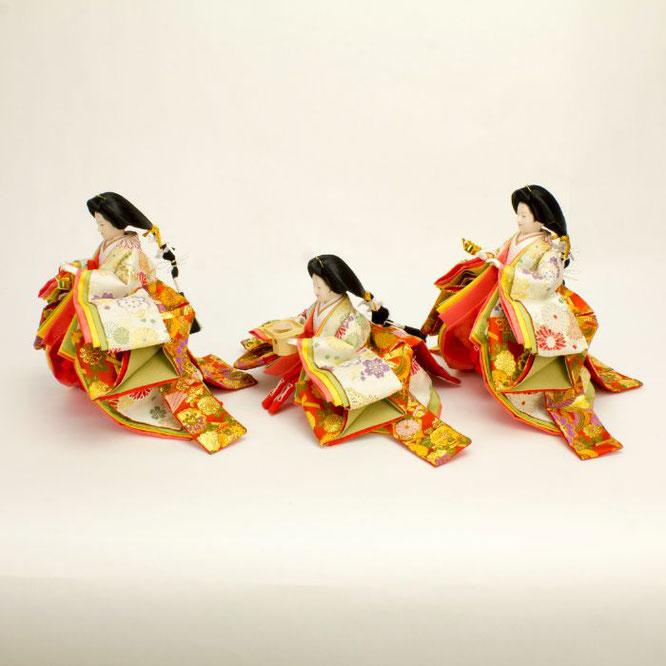 ひな人形 五人飾り 4H15-GP-001 三人官女(横)