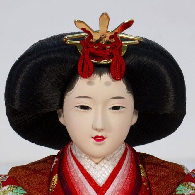 ひな人形 親王収納箱飾り 4H12-GP-071A 女雛(正面)