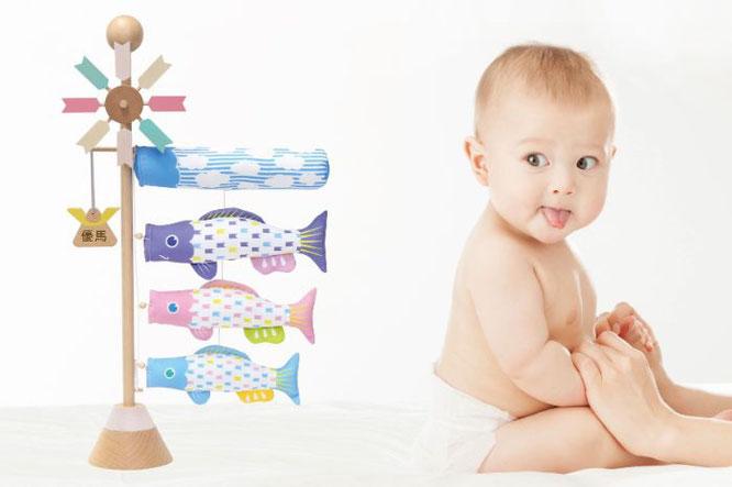 プーカのベビースタンド-ソラ-と赤ちゃん