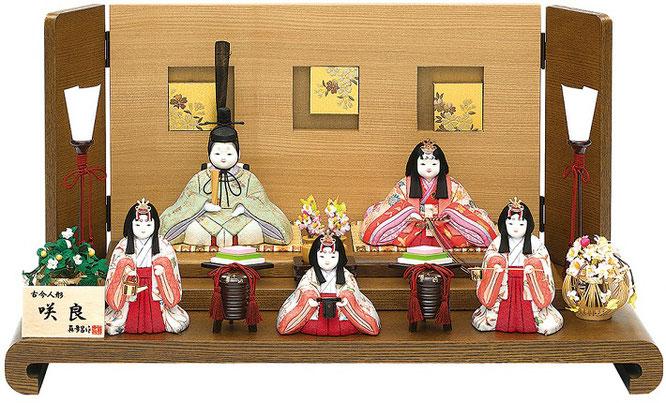 真多呂人形「咲良5人飾り」品番:1371