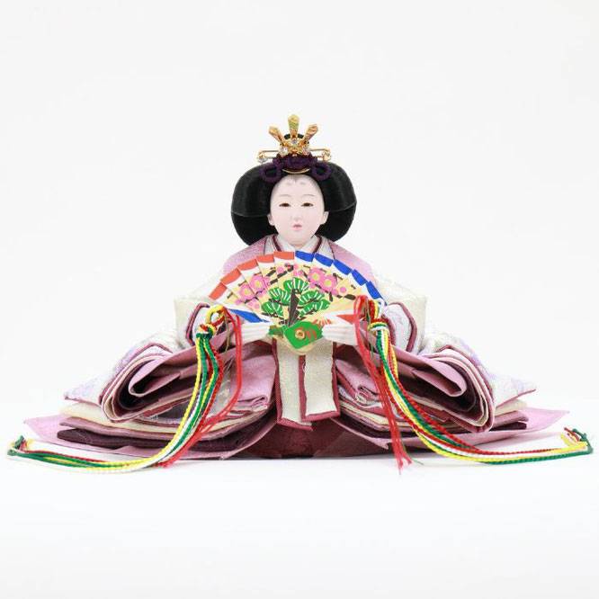ひな人形 五人収納箱飾り 4H16-GP-027 女雛(正面)