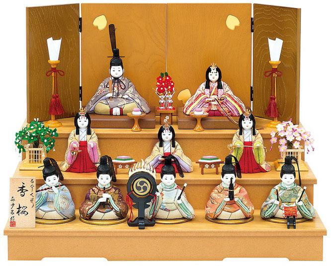 真多呂人形「香桜10人飾り」品番:1374