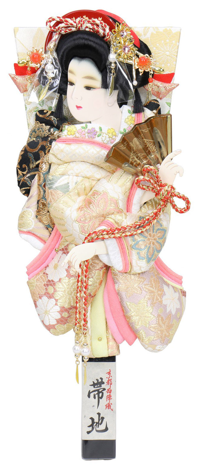 羽子板「正絹帯地振袖」道成寺
