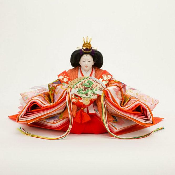 ひな人形 十五人飾り 4H18-GP-901A 女雛(正面)