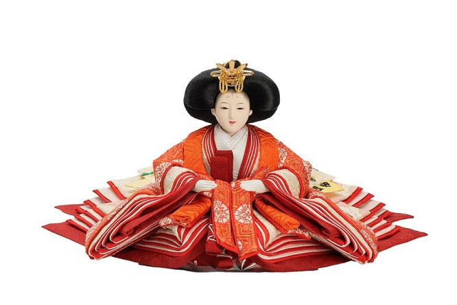 優香作ひな人形 亀甲地又木紋 女雛(京十三)