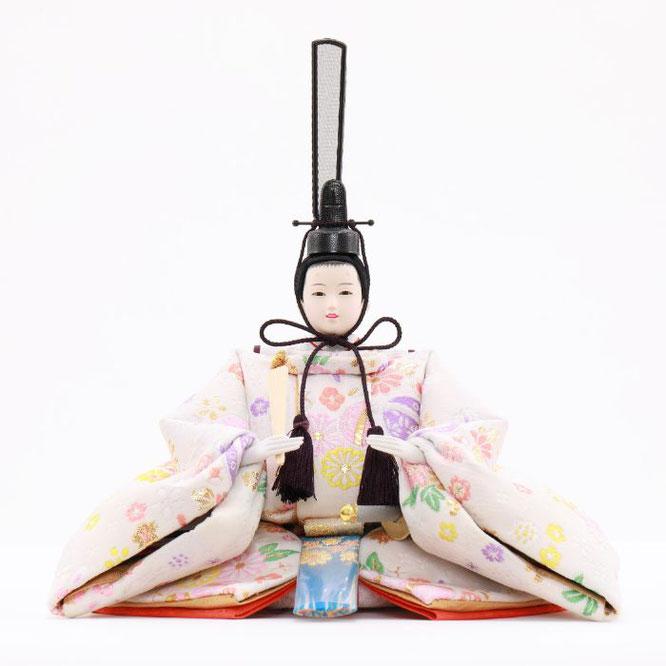 ひな人形 五人収納箱飾り 4H16-GP-017C 男雛(正面)