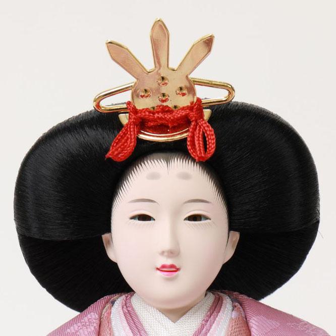 ひな人形 親王収納箱飾り 4H12-GP-064G 女雛(正面)