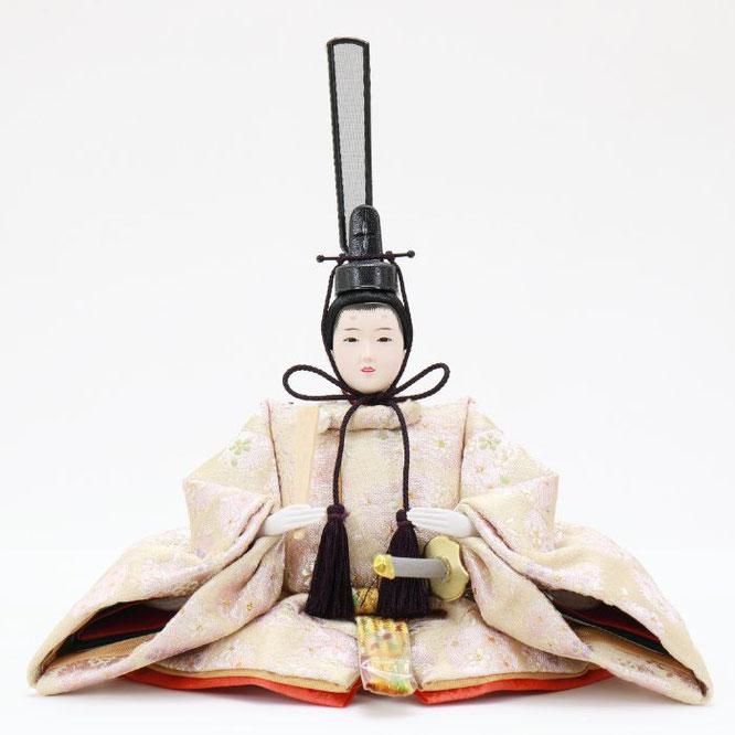 ひな人形 五人収納箱飾り 4H16-GP-023 男雛(正面)