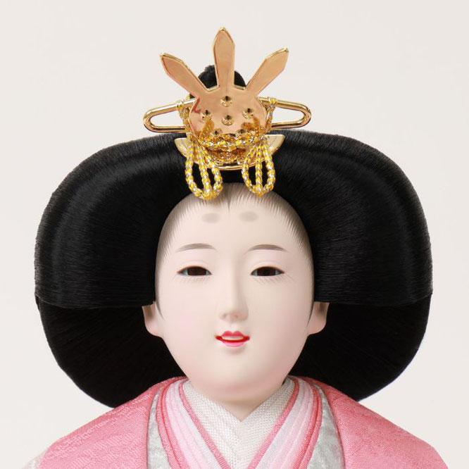 ひな人形 親王収納箱飾り 4H12-GP-070G 女雛(正面)