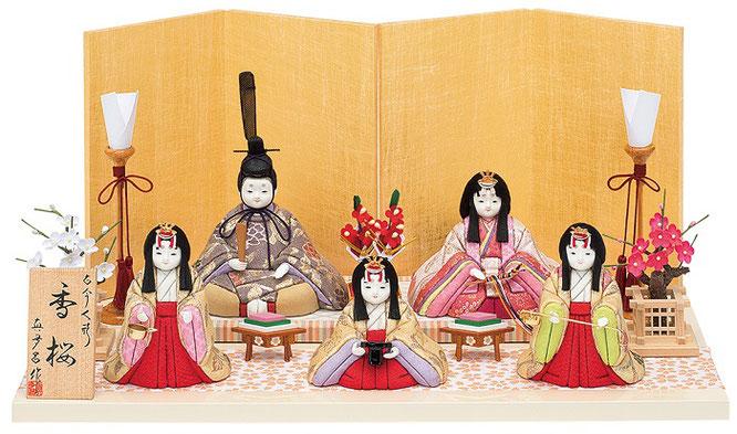 真多呂人形「香桜5人飾り」品番:1372