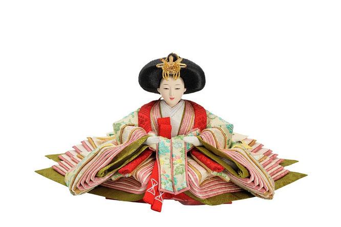 優香作ひな人形 蔓葡萄 女雛(京十三)