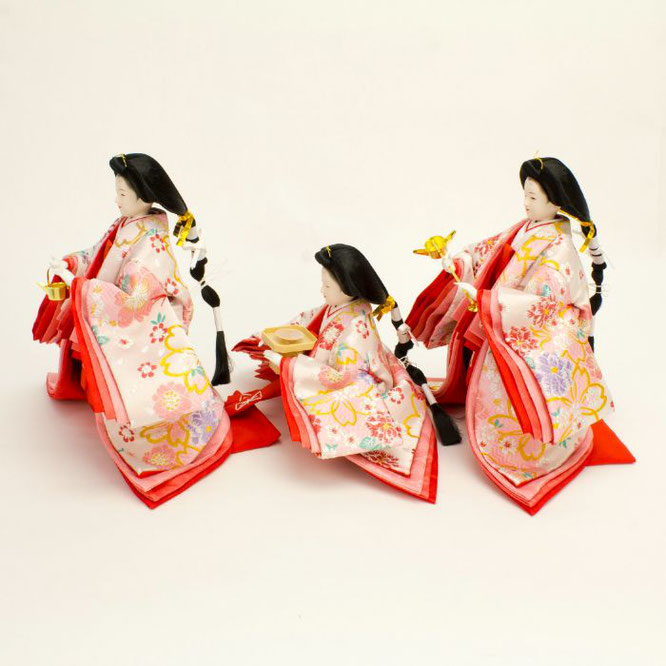ひな人形 五人飾り 4H15-GP-004 三人官女(横)