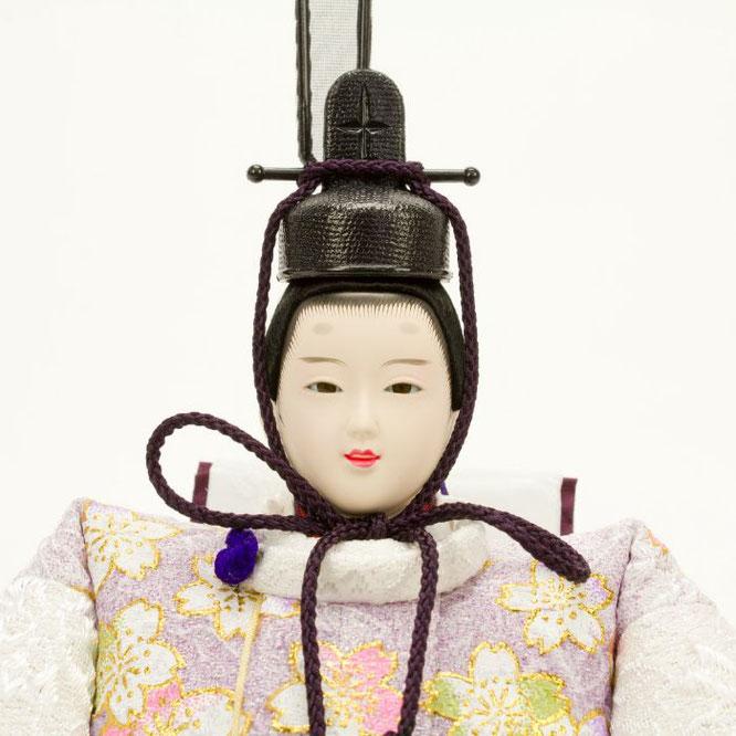 ひな人形 親王収納箱飾り 4H12-GP-072A 男雛(顔)