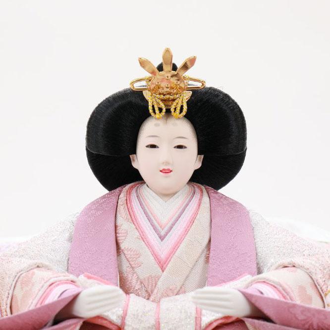 ひな人形 五人収納箱飾り 4H16-GP-025 女雛(顔)