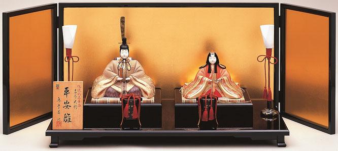 真多呂人形 親王飾り「平安雛セット」品番:1203/5104 伝統的工芸品