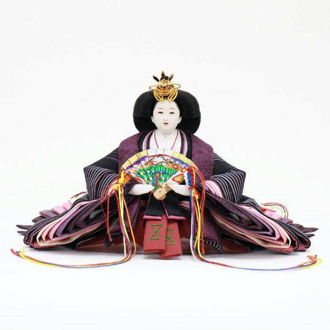 ひな人形 親王飾り(博暁作)4H11-GP-052 女雛(正面)