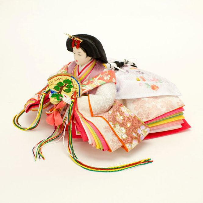 ひな人形 親王収納箱飾り 4H12-GP-072A 女雛(横)