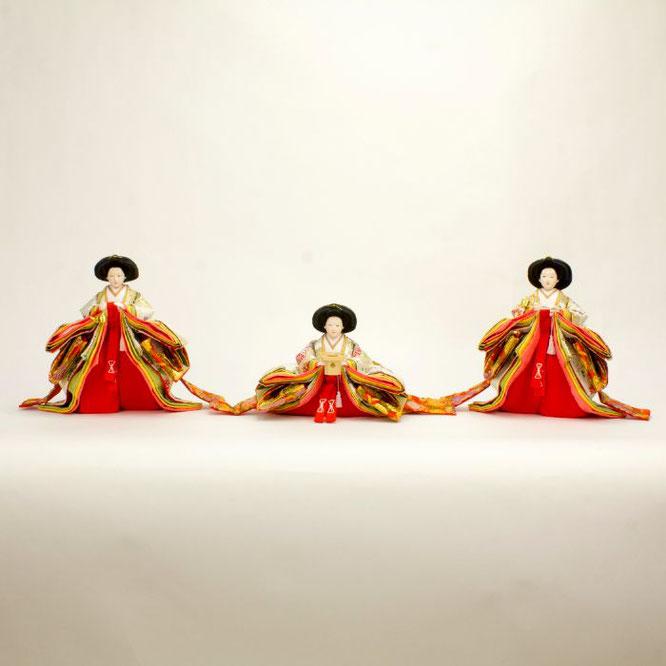 ひな人形 五人飾り 4H15-GP-001 三人官女(正面)