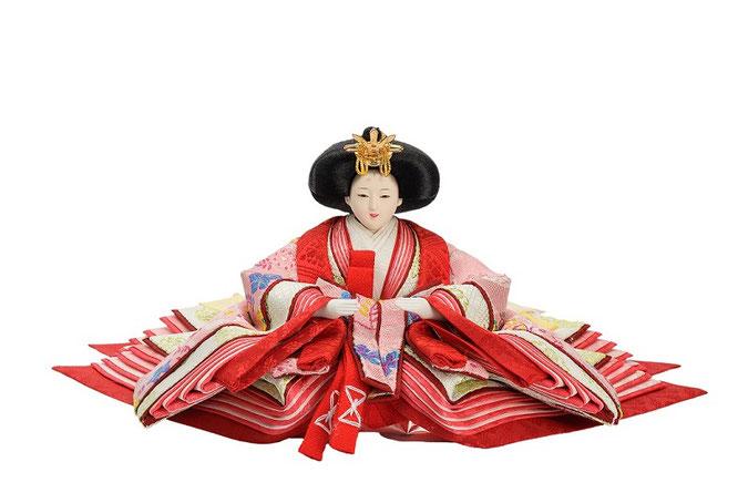 優香作ひな人形 花喰鳥 女雛(京十二)
