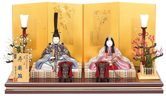 真多呂人形 親王飾り「本金 寿鶴雛セット」 品番:1815