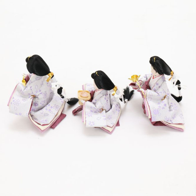 ひな人形 五人収納箱飾り 4H16-GP-027 三人官女(横)