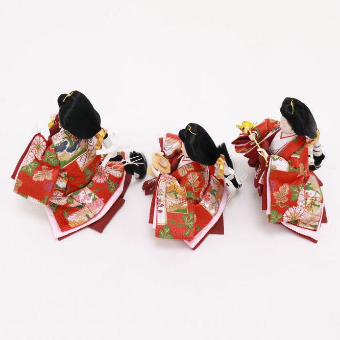 ひな人形 五人飾り 4H15-GP-032 三人官女(横)