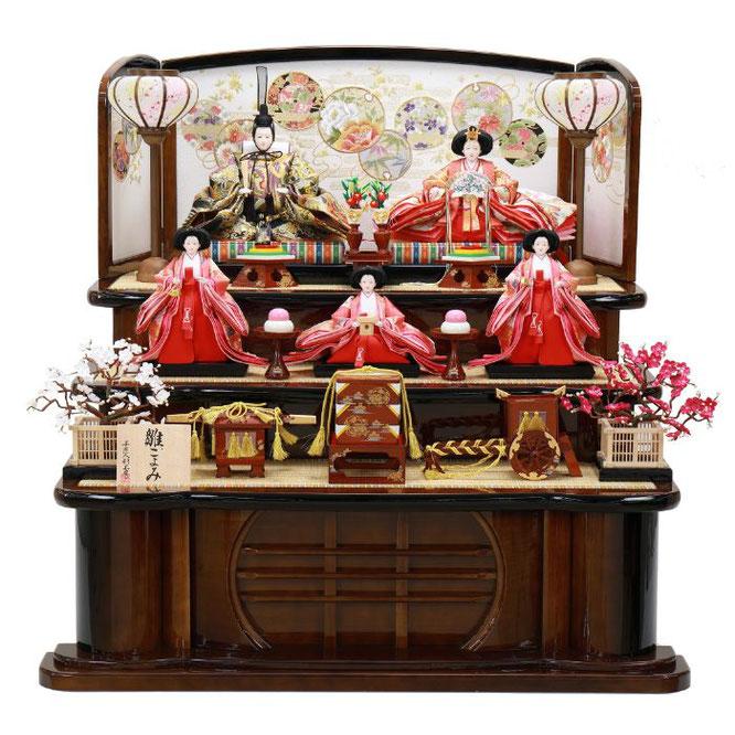 ひな人形 五人飾り 4H15-GP-002 五人飾り一式(正面)