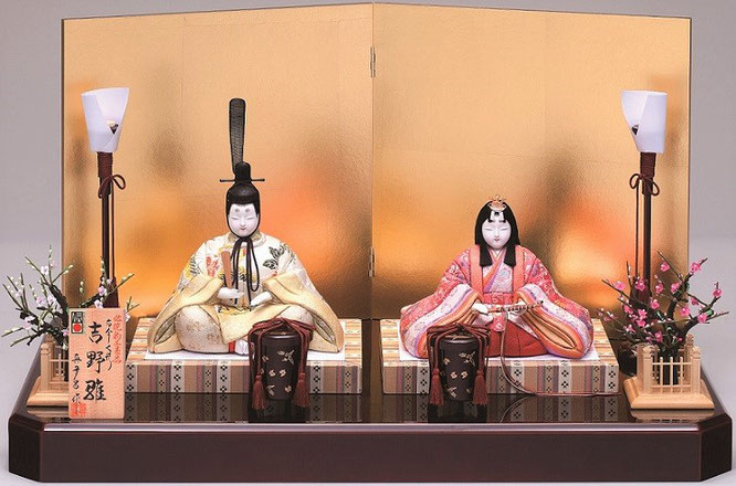 真多呂人形 親王飾り「吉野雛セット」 品番:1259 伝統的工芸品