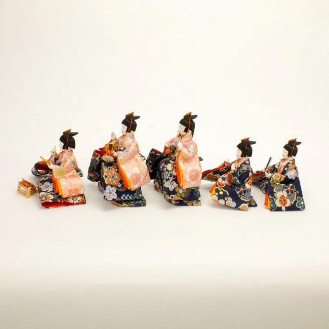 ひな人形 十五人飾り 4H18-GP-901A 五人囃子(横)