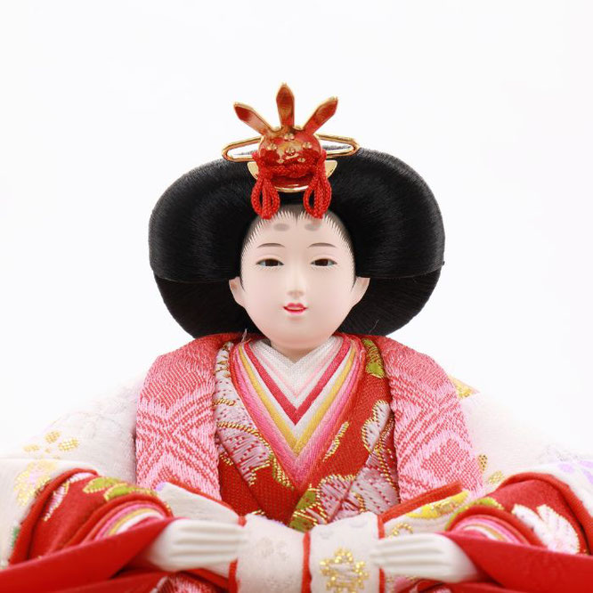 ひな人形 五人収納箱飾り 4H16-GP-017C 女雛(顔)