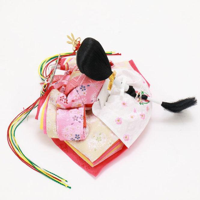 ひな人形 五人収納箱飾り 4H16-GP-023 女雛(横)